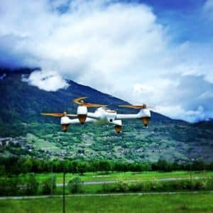 hubsan h501s en vol