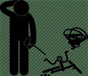 icône d'un drone tombé au sol