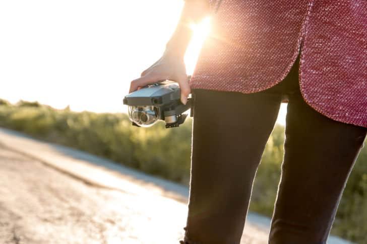 balade avec un drone
