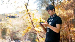 réglage de la radiocommande pour drone