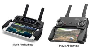 Radiocommandes du Dji Mavic air et du Dji Mavic pro