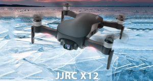 drone jjrc x12 au milieu des glaces
