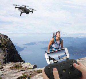 drone jjrc en plein vol