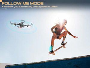 Drone Snaptain SP500 en mode Follow me